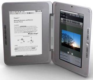 Illustration for article titled enTourage eDGe Dualbook On Sale in February For $490, Combines Ereader With Tablet