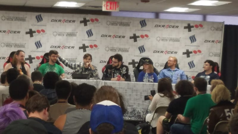 The Vinesauce crew at their Q&A panel for TooManyGames 2017