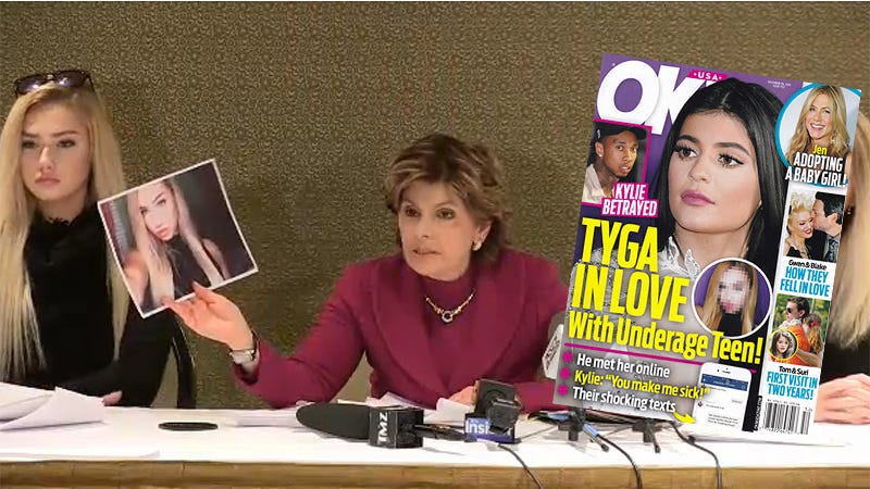 Illustration for article titled Gloria Allred Defends14-Year-Old Girl After OK! Implicates Her in Sex Scandal With Tyga