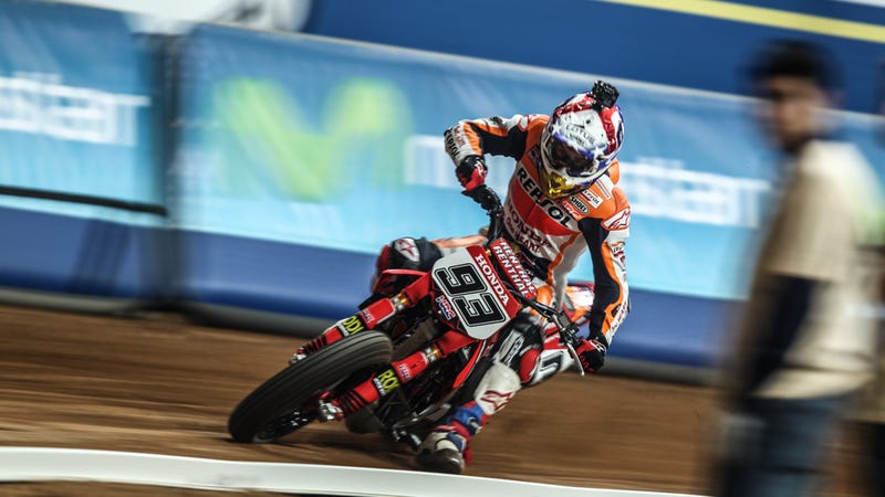 Illustration for article titled Marc Marquez Is Even More Mental When He's Dominating Flat Track