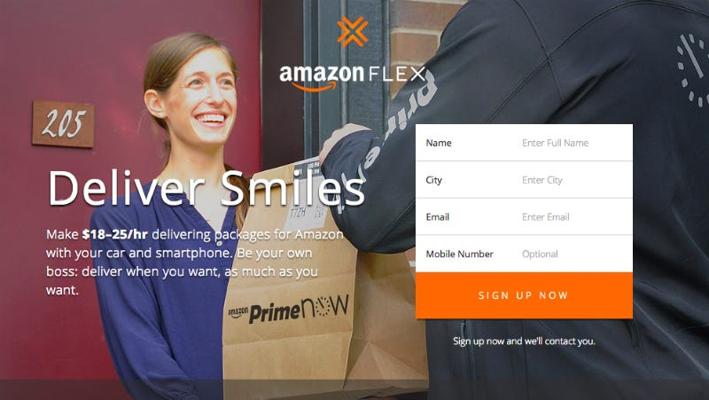 Illustration for article titled Amazon Flex Pays You To Deliver Strangers' Packages