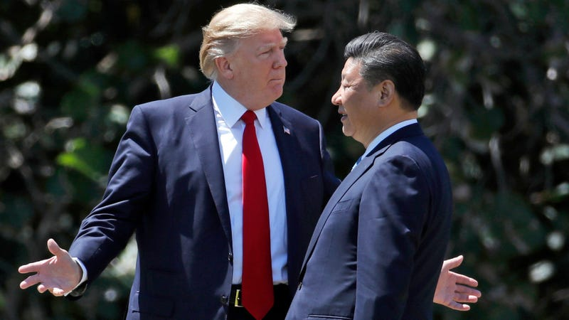Donald Trump with Xi Jinping in 2017.
