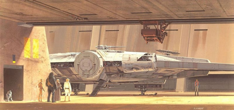 A very famous piece of Star Wars concept art by Ralph McQuarrie.