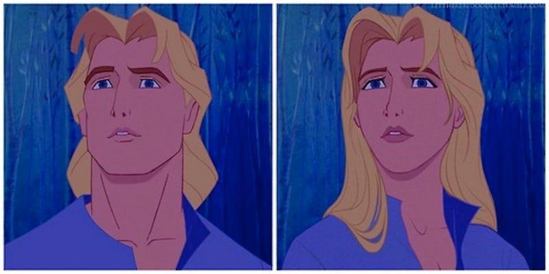 Illustration for article titled Disney Princes Get a Feminine Makeover in Gender-Bending Art Project