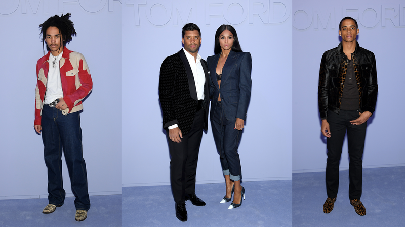 Luka Sabbat; Russell Wilson and Ciara; Cordell Broadus (courtesy of Tom Ford)