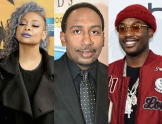 Raven-Symoné; Stephen A. Smith; Meek MillNeilson Barnard/Getty Images; Moses Robinson/Getty Images for Neighborhood Awards; Ilya S. Savenok/Getty Images