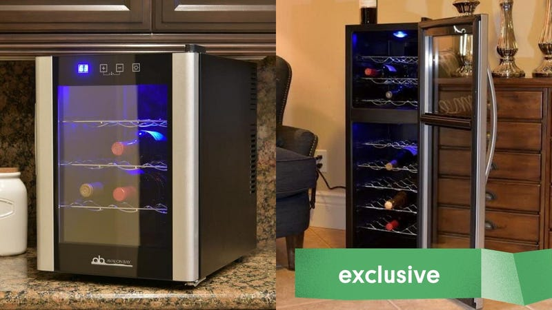Newair Dual Zone 27 Bottle Wine Fridge | $149 | Newair | Promo code KINJA10Newair Dual Zone 18 Bottle Wine Fridge | $103 | Newair | Promo code KINJA10Newair Dual Zone 12 Bottle Wine Fridge | $92 | Newair | Promo code KINJA10