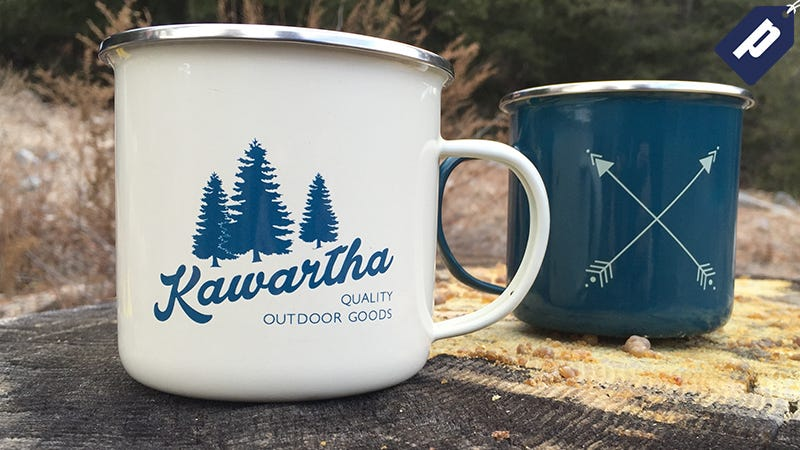 Illustration for article titled Save 50% on The Kawartha Enamel Mug Set: Great for Camping or Home ($12)