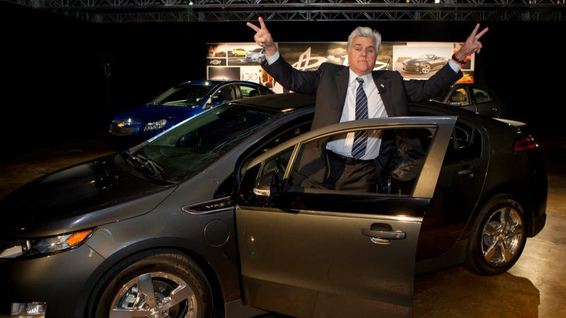 Illustration for article titled Jay Leno Once Got Pulled Over In A Wooden Car That Uses Fire As Fuel