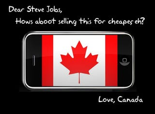 Illustration for article titled Canadians Write Angry Letter to Steve Jobs Over iPhone Plan in the Great White North