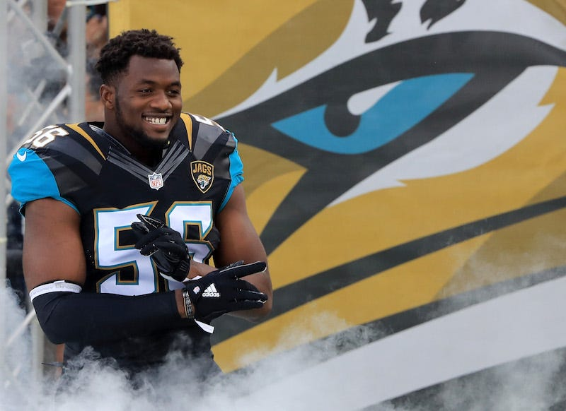 Jaguars DE Fowler Jr. arrested on charges of battery, mischief