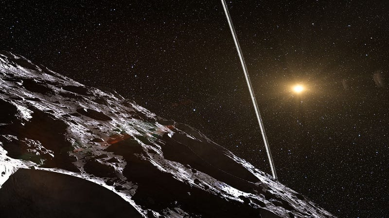 Illustration for article titled Astronomers May Have Detected Rings Around Minor Planet Chiron