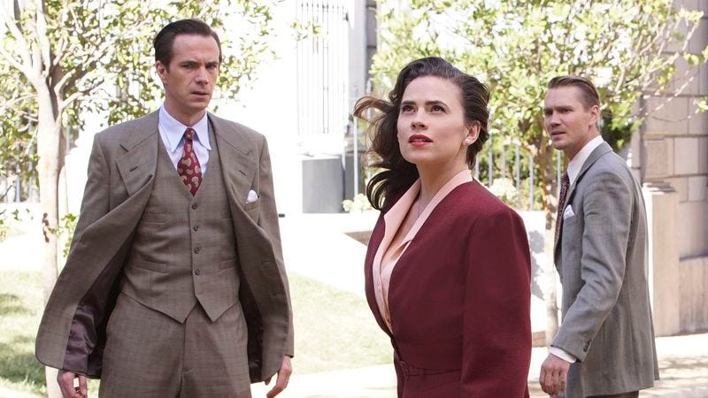 """Illustration for article titled Agent Carter's """"Hollywood Ending"""" succeeds by focusing on relationships"""