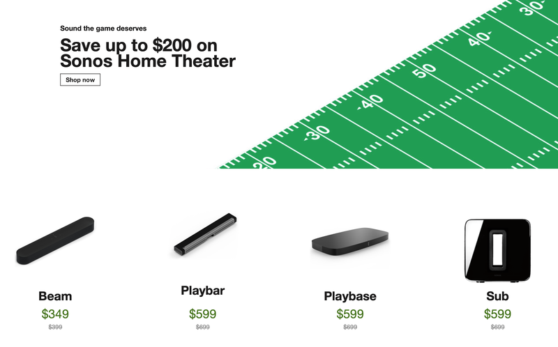 Sonos Big Game Sale | Sonos