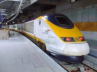 Illustration for article titled Eurostar Train  Sets Chunnel Record, Goes 192 MPH