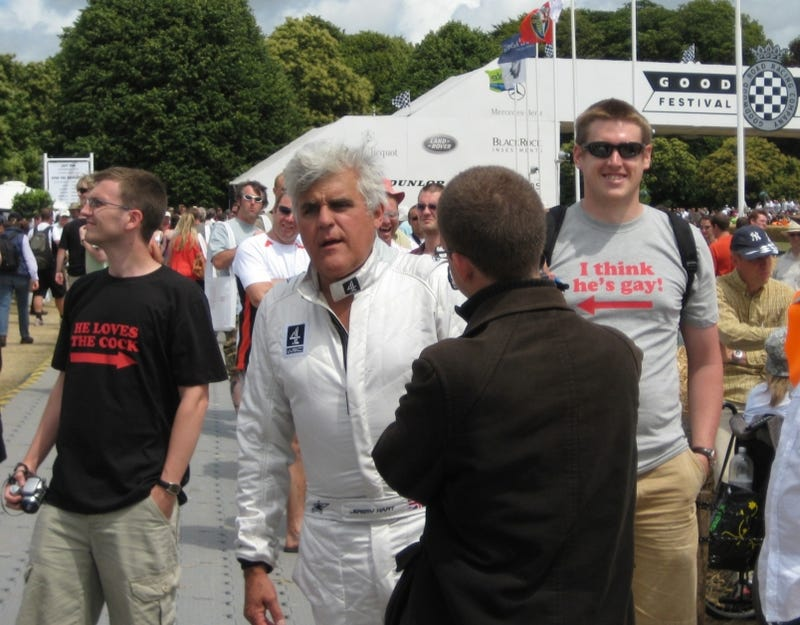 Illustration for article titled Jay Leno Punked By Jalopnik Readers At Goodwood