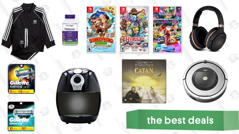 Illustration for article titled Wednesday's Best Deals: Air Fryers, Nintendo Switch Games, Melatonin Gummies, and More