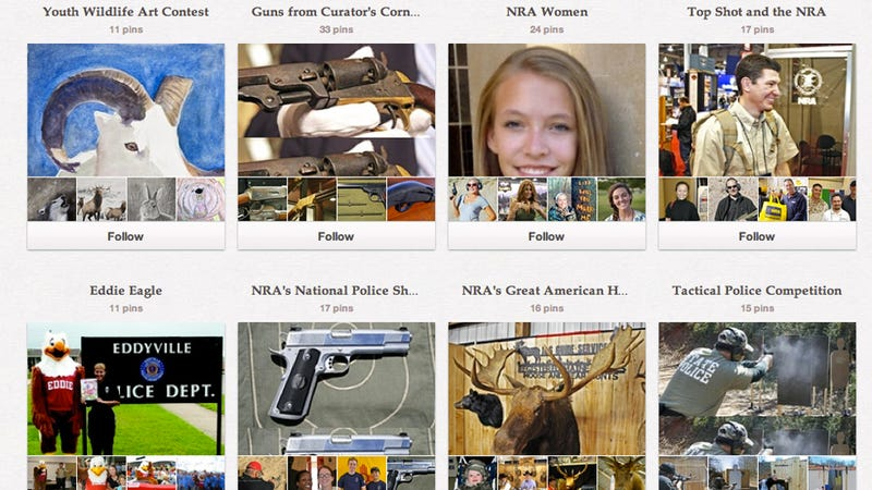 Illustration for article titled Annie, Get Your Pretty Gun: The NRA Is on Pinterest