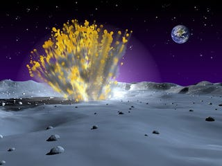 Illustration for article titled Moon rocks reveal what hit the Earth 3.8 billion years ago