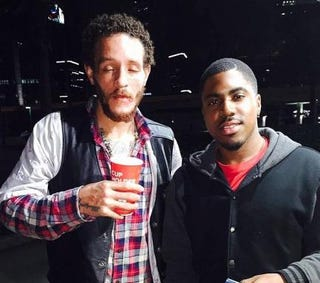 Delonte West (left) was reportedly seen shoeless wandering around a Houston Jack in the Box.Twitter