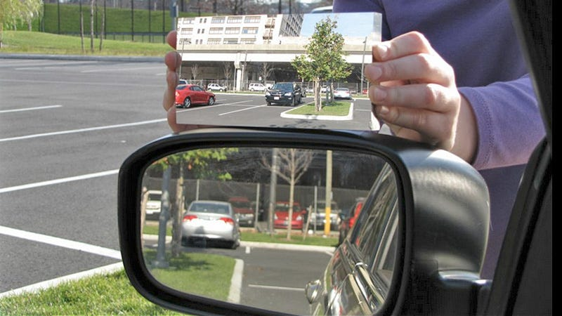 Illustration for article titled This Driver-Side Mirror Works Like a Flat Disco Ball To Completely Eliminate Blind Spots