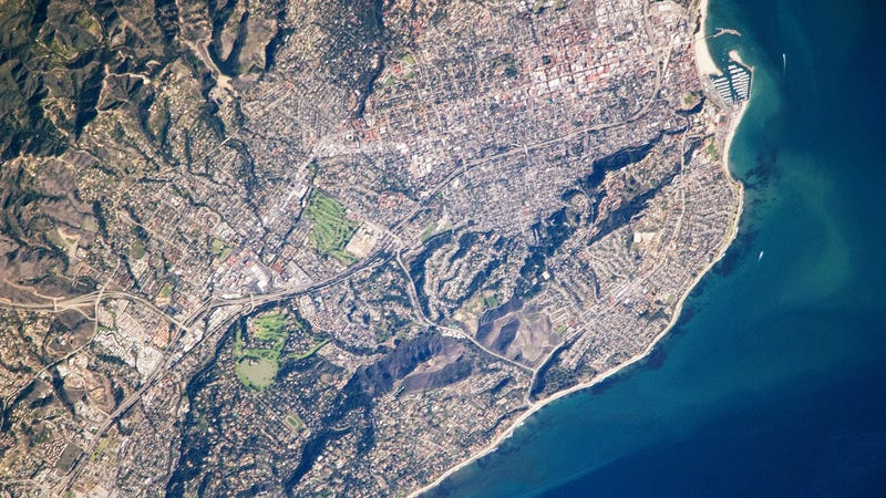 A view of Santa Barbara, a city with 88,000 residents, as seen from the International Space Station. (Image: NASA)