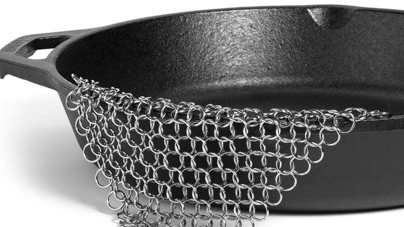 Cast Iron Chainmail Scrubber, $7 with code YT8EBNZ3