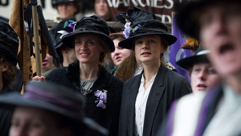 Illustration for article titled Neither noble intentions nor Carey Mulligan can save Suffragette