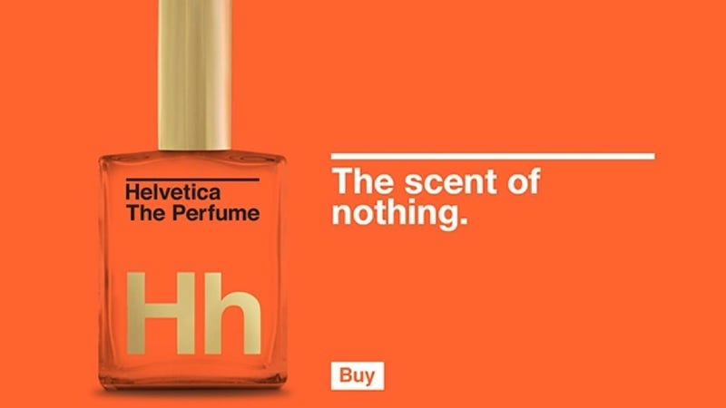 Illustration for article titled Helvetica the Perfume Is Irony Distilled