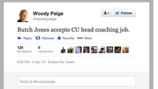 Illustration for article titled Woody Paige Reported That Colorado Hired A Football Coach. Colorado Has Not Hired A Football Coach.