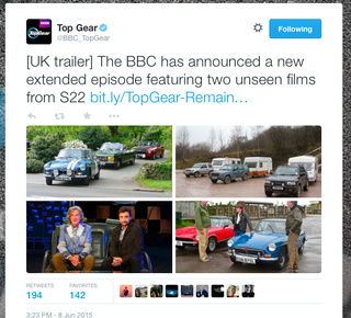 Illustration for article titled BBC to Air two unseen films of Season 22 of Top Gear