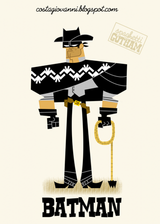 Illustration for article titled What if Batman starred in his very own Spaghetti Western?