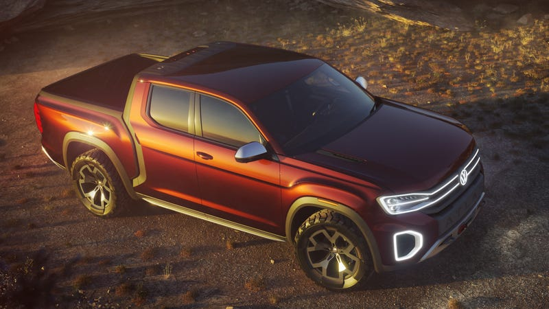 Illustration for article titled The Volkswagen Atlas Tanoak Is The German Truck You Didn't Know You Wanted Until Right Now