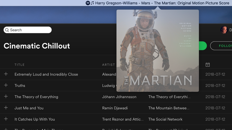See What's Playing in Spotify or iTunes from Your Mac's Menu Bar