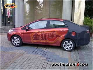 Illustration for article titled Ford Fiesta Sedan Caught Red-Handed Testing In China