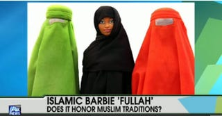 "Illustration for article titled Charity Cases: ""Burka Barbie"" Angers Everybody"