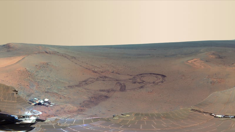 """Illustration for article titled NASA calls this newly released photo of Mars """"the next best thing to being there"""""""