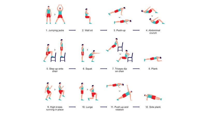 Dont Have An Hour Or Even Twenty Minutes To Exercise Each Day You Might Not Need It This Routine Of 12 Exercises Is A Complete Workout Based On The