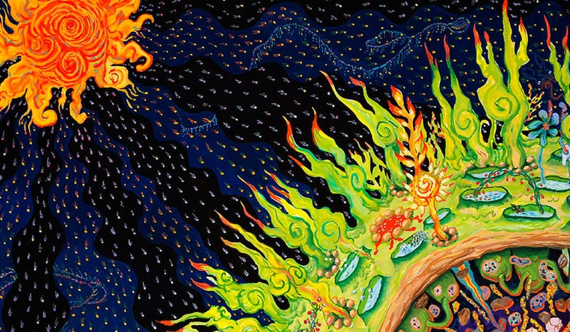 Illustration for article titled A delightfully trippy artistic interpretation of the biosphere concept