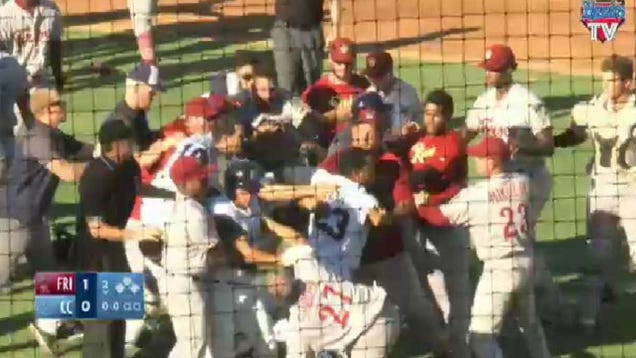 Minor League Teams Get Straight To The Fightin'