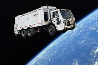 Illustration for article titled Finally! A Trash Collector For Space Junk!