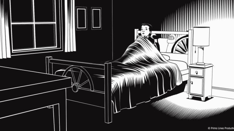 Illustration for article titled An animated horror anthology renders fear in black and white