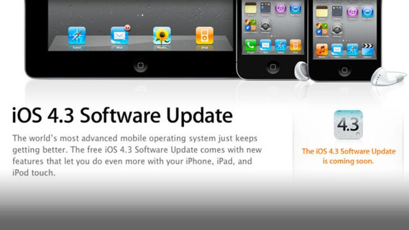 Illustration for article titled iOS 4.3 Is Here—Your Phone Just Got Mo' Better for Free