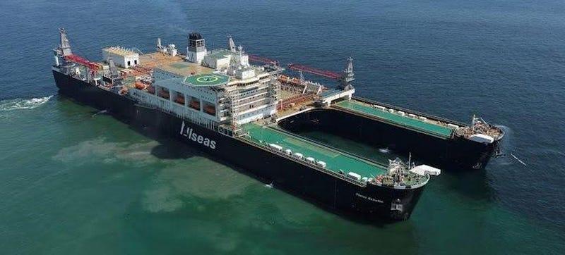 Illustration for article titled Esta ciudad flotante es el barco más ancho del mundo