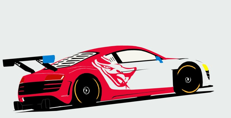 Illustration for article titled The Flying Lizard R8 for our caption contest winner