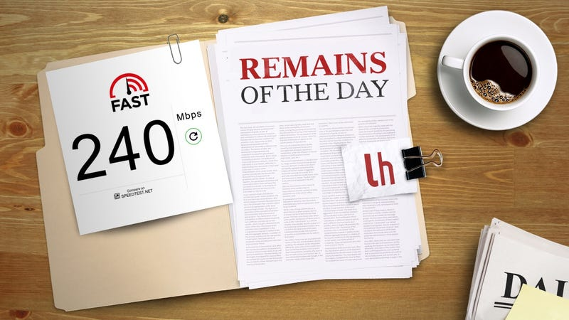 Illustration for article titled Remains of the Day: Netflix Launches a Super Simple Internet Speed Tester