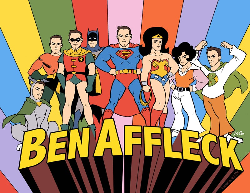 Illustration for article titled Ben Affleck plays every single one of the Superfriends