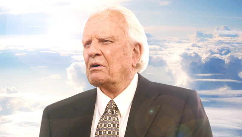 Illustration for article titled Panicked Billy Graham Realizes He Took Wrong Turn Into Heaven's Largest Gay Neighborhood