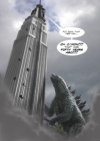 Illustration for article titled If Godzilla Loses We Riot!