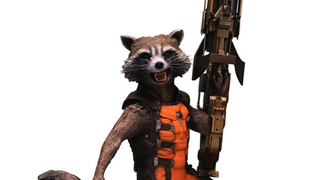 Illustration for article titled Holy Cow, This Rocket Raccoon Statue Is Over 6 Feet Tall